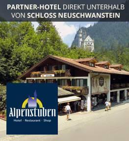 Hotel Alpenstuben unterhalb von Schloss Neuschwanstein